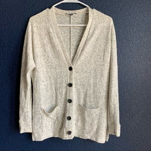 American Eagle XS ivory/black button up cardigan
